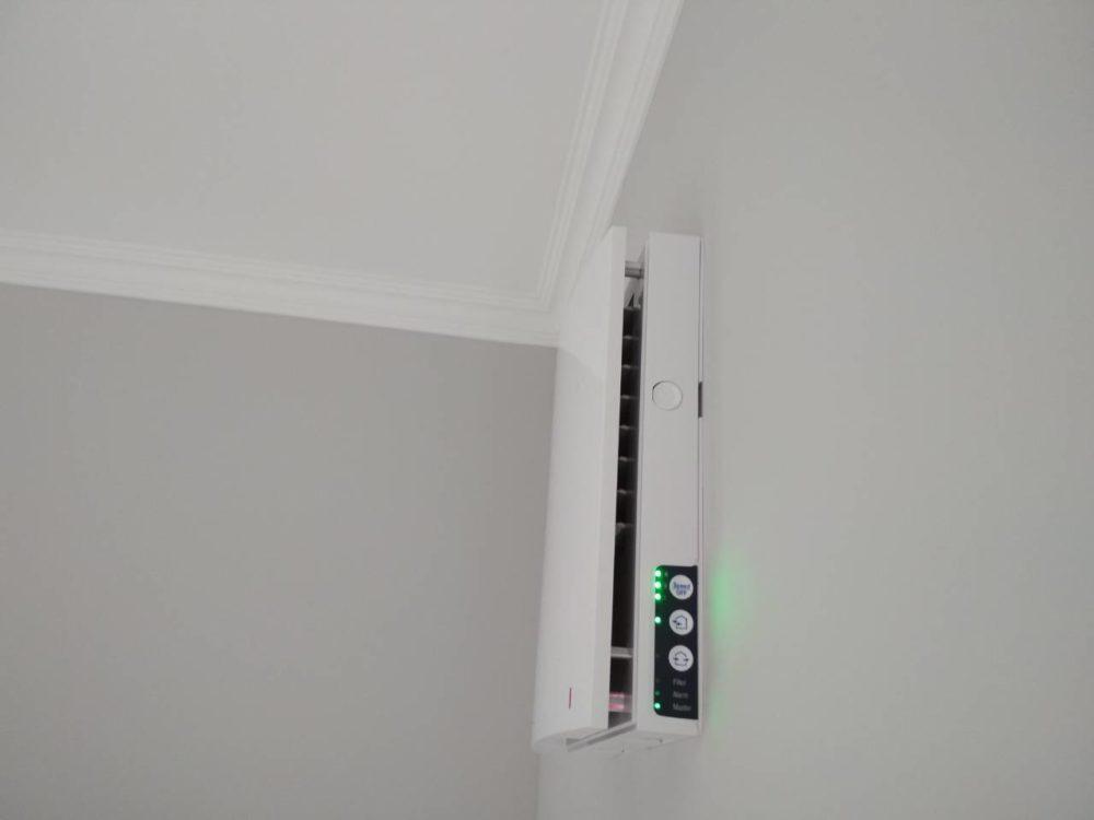 Установка стенового рекуператора воздуха Blauberg Vento Expert